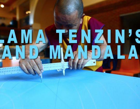 Tibetan monk teaches peace through temporary art